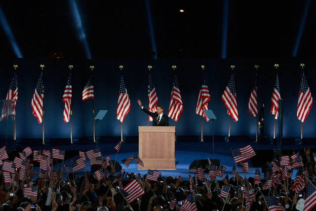 Barack Obama's Victory Speech 2008.jpg