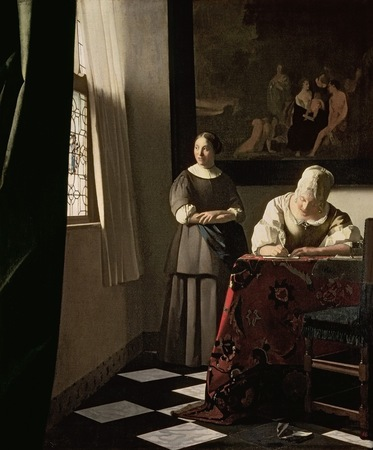 Lady Writing a Letter with her Maid Vermeer.jpg